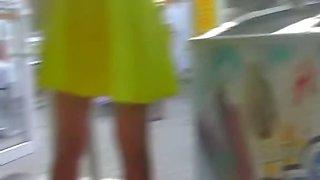 Cam spy upskirt view on horny video