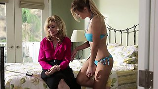 Bikini babe queens grieving mature