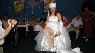 Real Brides Show Their Pussies