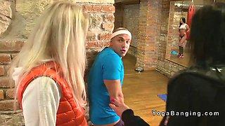 voyeur guy bangs busty babe at gym