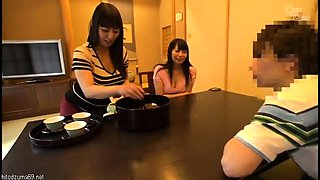 Naughty Japanese housewives satisfy their hunger for cock