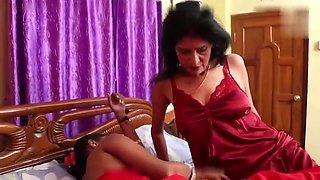 Desi Lesbian Mom & daughter sex