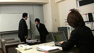 This new office lady Tsubaki is so freaky and hot. She