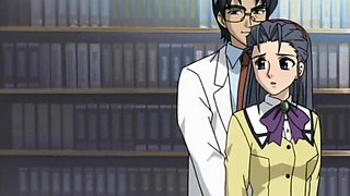 Anime school babe in ropes fucks her teacher