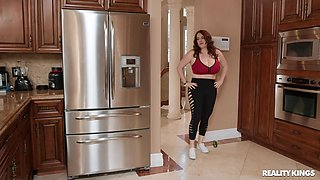 Big booty mature mom uses her jugs to spice thing up even more