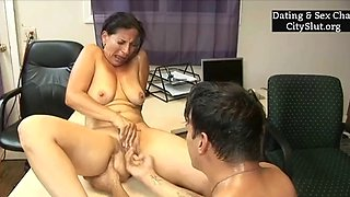 Horny boss mature going crazy