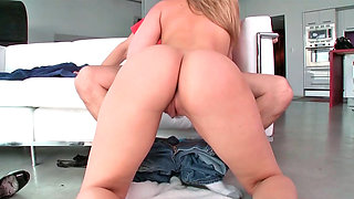 Alexis Texas performing oral and riding on gigantic schlong