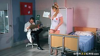 horny doctor banging sexy nurse at hospital