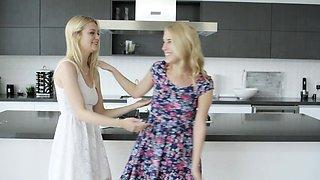 Blonde BFFs Share a huge BBC