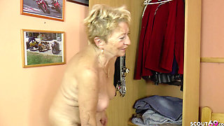 75yr old GERMAN GRANNY USCHI SEDUCE YOUNG MEN TO FUCK HER