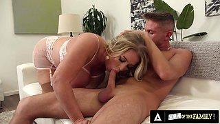 Busty MILF Alura Jenson Lets Stepson Ride Her Amazing Ass