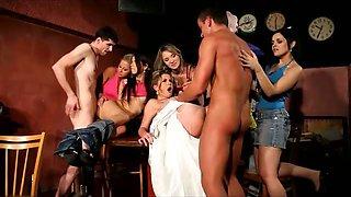6 Girls and a Bride fuck stripper
