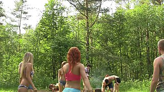 Dominica Phoenix & Eva Berger & Nika Star & Mancy & Rita Rush & Sabrina M  in hot college sex video made in the outdoors