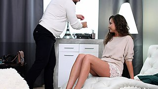 Hunky Doc Makes Sweet Teen Squirt