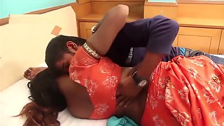 Telugu housewife saree draping below navel romance hot scene