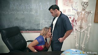Getting bonked in the classroom is a new experience for Tegan James