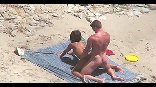 Amateur couples filmed fucking on the beach
