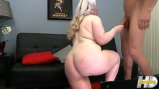 Chubby Bbw Blonde Fucked In The Ass Hole