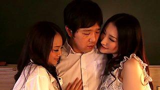 Fabulous Japanese models Azumi Mizushima, Natsuki Anju in Hottest JAV censored Swallow, Threesomes video