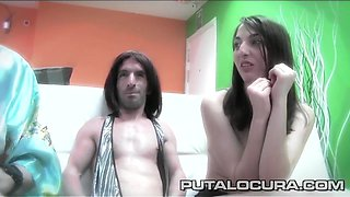 PUTA LOCURA Cute Teen in shower Bukkake