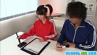 Sexy Schoolgirl Asuka Hoshina Fucked After Class Lets Out