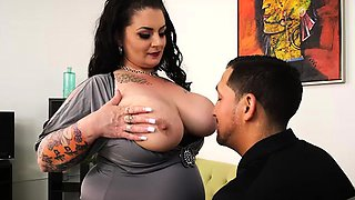 Big Tit BBW MILF Erika Xstacy Bangs Landlord for Rent