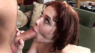 Incredible pornstar Mae Victoria in amazing swallow, hairy porn clip