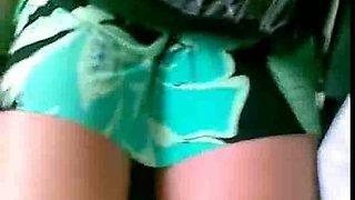 Black chick in bus got her upskirt caught on my hidden cam