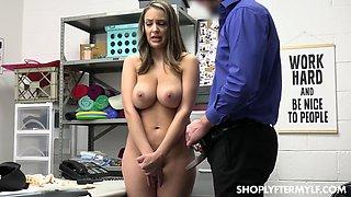 Big tits milf get caught