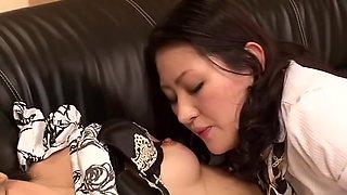 Crazy Japanese model Maki Amemiya, Imai Natsumi in Horny Lingerie, Lesbian JAV movie