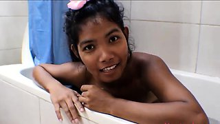 Tiny Thai Teen Heather Deep deepthroat anal creampie
