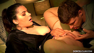 Gorgeous Italian Beauty Valentina Assfucked Hard by Two Studs