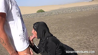 A moment of passion in the desert
