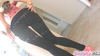 GiveMePink Cute russian fucking her tight ass and tiny pussy