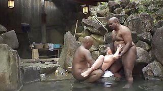 Japanese NUDE WIFE WATCHING THE UNBEATABLE BEHAVIOR OF BLACK TOURISTS WAS RAPPED BY A BIG COCK BBC