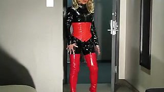 Short shiny spandex porn video with me dressed in latex