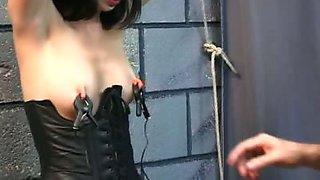 Electro bondage play