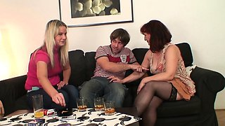 Old mother in law taboo sex and his wife watches