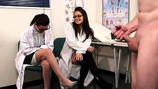 Voyeur english doctors instruct wanking guy