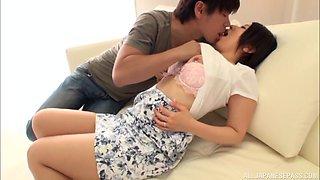 Nice fucking at home with hot ass Japanese girlfriend Hayano Ichika