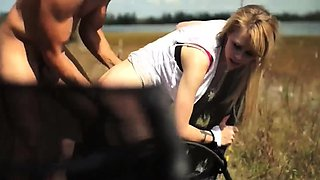 Rough anal toys Helpless teen Lily Dixon is lost and