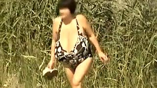 Retro big tits mix on Russian beach