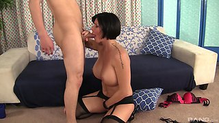 Wife gets personal with younger hunk whose dick makes her drool