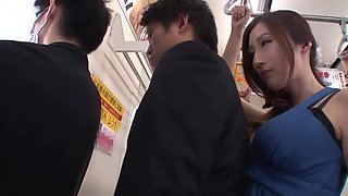 Beautiful Busty Japanese Julia Groped On Bus And Ends Up Pissing