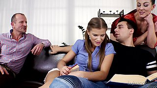 Mind-blowing group fucking with a salacious honey Valentina Ross