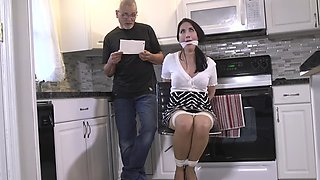 Crotch rope and panty gagged 002