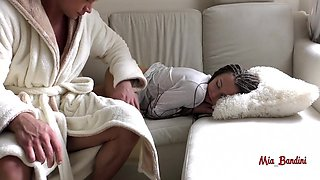 Surprise Morning Quickie For Sleeping Petite Teen. Mia Bandini