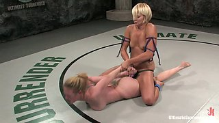 Blondes Find Erotic Wrestling To Be Very Satisfying! Tag Along!