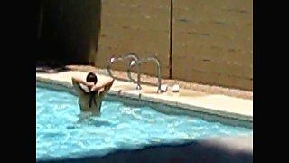 Pool Milf Voyeur Angle B