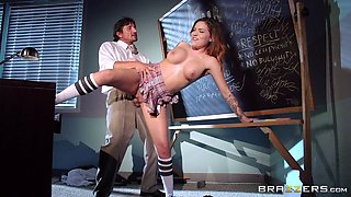 Naughty student gets a really harsh punishment from her horny teacher